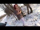 Amateurvideo zitternde Bitch im Schnee from ViolettaAngel
