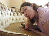 Amateurvideo lick feet in nylon (1) von Arabika