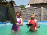 Amateurvideo Waders unter Wasser von sexyalina