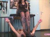 Amateurvideo Ausbildung zum gehorsamen Sklaven Schritt 2: Bestrafung 2/2 von LadyVampira