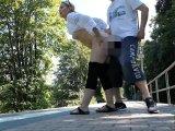 Amateurvideo Mitten am Bahnhof gefickt von DaddysLuder