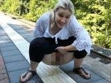 Amateurvideo Aufm Bahnsteig gepisst von DaddysLuder