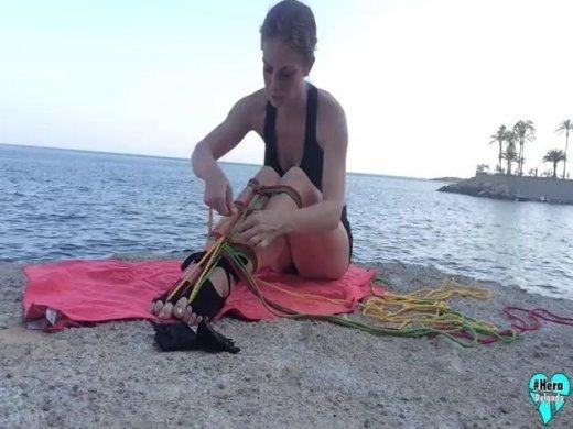Meerjungfrau-Schwanz mit Seilen